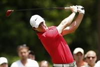 Northern Ireland's Rory McIlroy tees off on the second hole during the third round of The