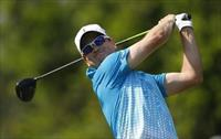 Zach Johnson of the U.S. tees off on the second hole during the second round of The Player