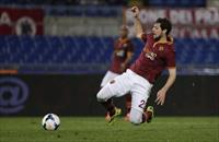 AS Roma's Mattia Destro shoots to score against Torino during their Italian Serie A soccer