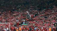 Fans sing before the Local Liverpool Legends and International Liverpool Legends 'Celebrat