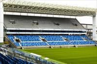 The interior of Arena Pantanal soccer stadium is pictured as it undergoes construction in