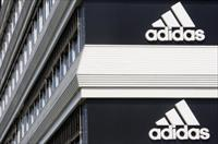 Adidias logos are seen on the company's building in Landersheim near Strasbourg March 31,