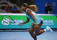 Serena Williams of the U.S. runs for the ball during her women's singles match against Tsv