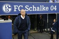 Schalke 04' s coach Roberto di Matteo arrives for his team's German first division Bundesl