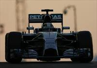 Mercedes Formula One driver Lewis Hamilton of Britain leaves the pit during the Abu Dhabi