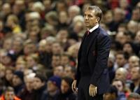 Liverpool manager Brendan Rodgers reacts during their English League Cup soccer match agai