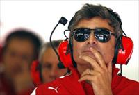 Ferrari Formula One team principal Marco Mattiacci attends the second practice session of