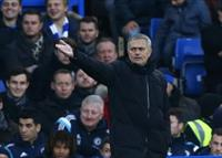 Chelsea manager Jose Mourinho reacts during their English Premier League soccer match agai