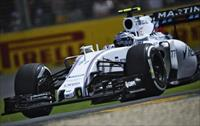 Williams Formula One driver Valtteri Bottas of Finland drives during the third practice se