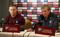 England manager Roy Hodgson and Wayne Rooney during the press conference. Action Images vi