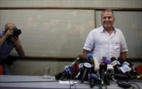 Former Brazil soccer player Zico arrives for a news conference in Rio de Janeiro, Brazil,