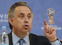 Russian Sports Minister Vitaly Mutko speaks during a news conference in St. Petersburg, Ru