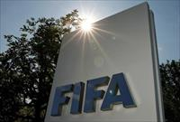 The logo of FIFA is seen in front of its headquarters in Zurich, Switzerland July 20, 2015