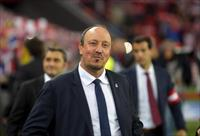 Real Madrid coach Rafa Benitez reacts before their Spanish first division soccer match aga