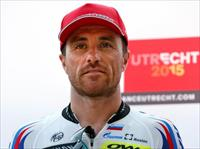 Katusha rider Luca Paolini of Italy poses during the Tour de France cycling race presentat