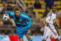 FILE PHOTO: Oct 28, 2018; Columbus, OH, USA; Columbus Crew SC goalkeeper Zack Steffen (23)