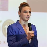FILE PHOTO: Katinka Hosszu is seen at the 'Empowering Women in Sport' conference in Budape