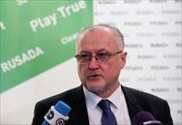 FILE PHOTO: Head of Russian Anti-Doping Agency (RUSADA) Yuri Ganus speaks during a news co